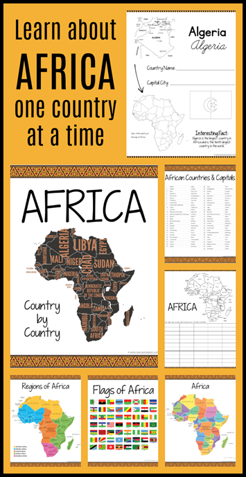 AFRICA Country by Country Geography Printables