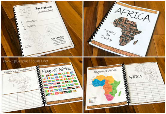 AFRICA Country by Country Notebook