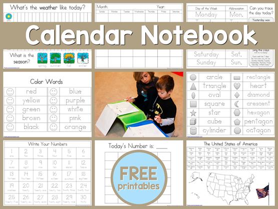 Free-Daily-Calendar-Notebook-Printab