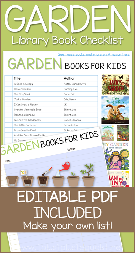 Garden Books Editable Library Checklist