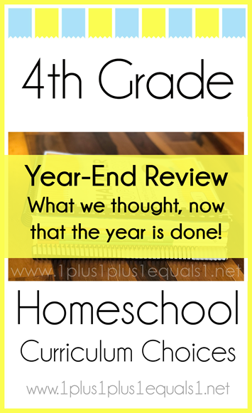 4th Grade Homeschool Curriculum Year End Review L