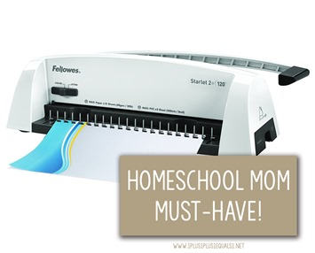 Homeschool Mom Must Have Binding Machine