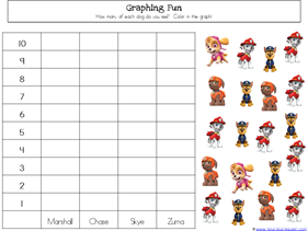 Paw Patrol Kindergarten Worksheets