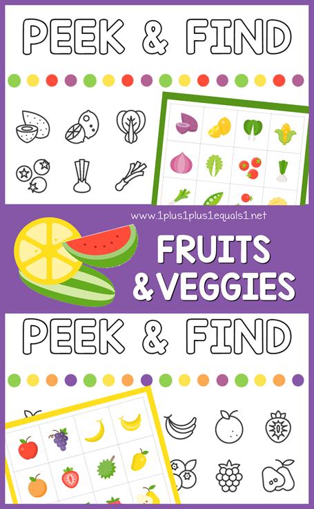 Peek & Find Fruits and Veggies