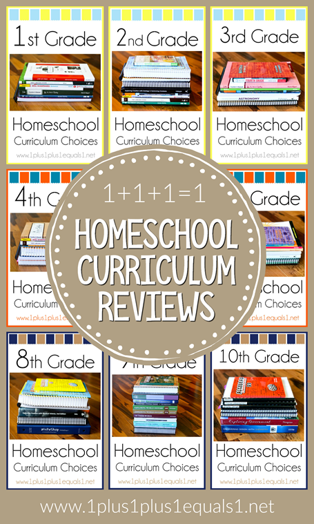 Homeschool Curriculum Choices and Reviews from 1 1 1=1