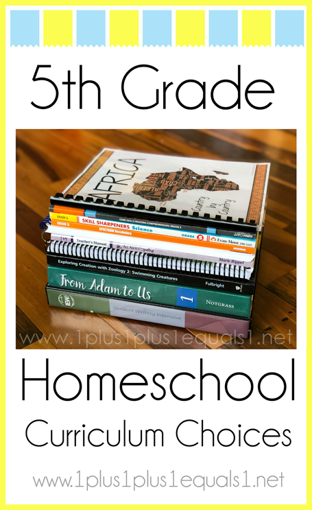 5th Grade Homeschool Curriculum Choices L