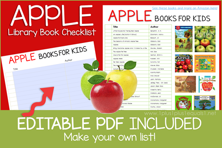 Apple Books Editable Book Checklist