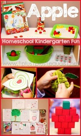 Apple-Theme-Homeschool-Kindergarten-