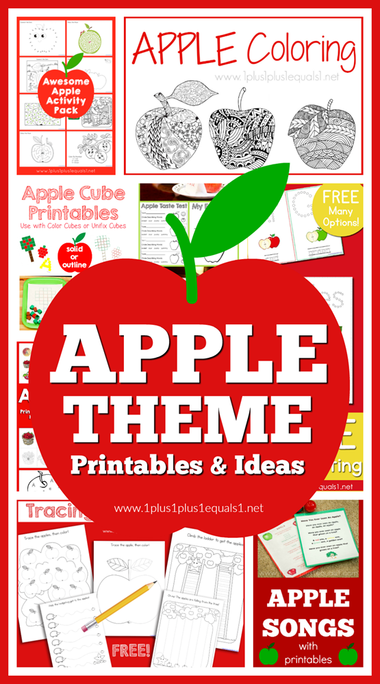 Apple Theme Printables and Ideas