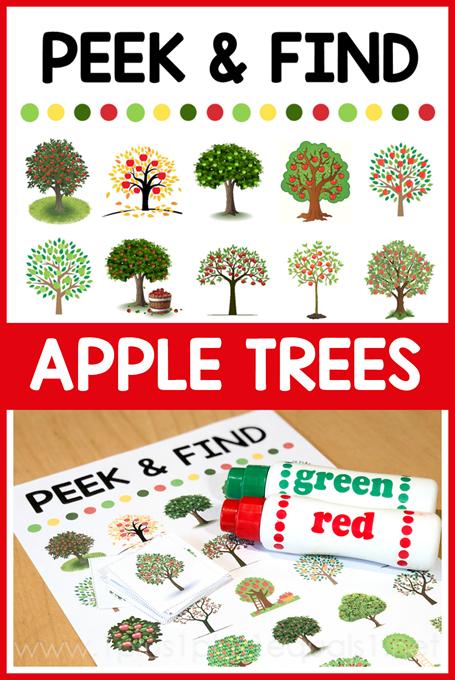 Peek and Find Apple Trees