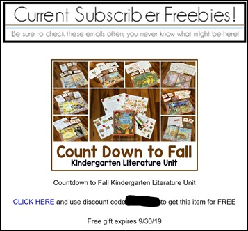 CDF Subscriber Freebie
