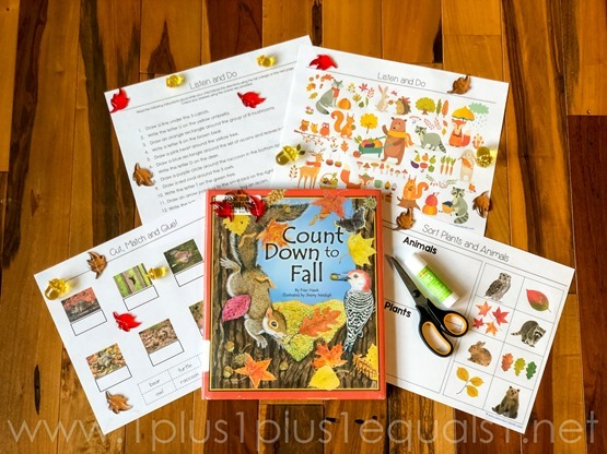 Count Down to Fall Kindergarten Literature Unit-9