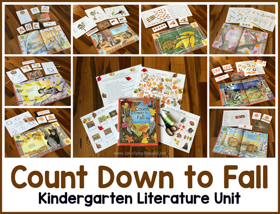 Kindergarten Literature Unit Count Down to Fall