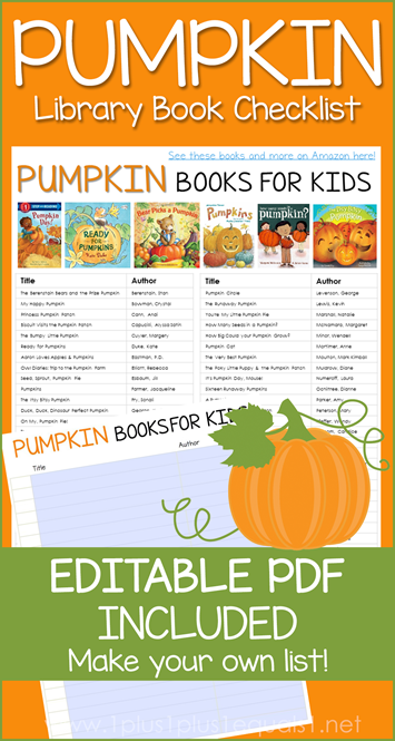 Pumpkin Books Editable Library Checklist