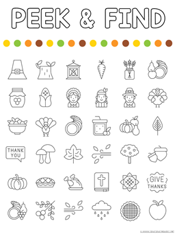 Peek and Find Thanksgiving Printables (1)
