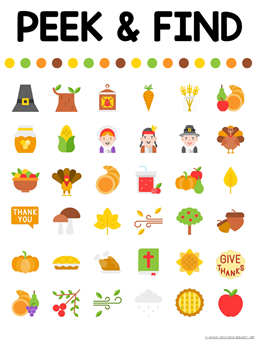 Peek and Find Thanksgiving Printables (2)