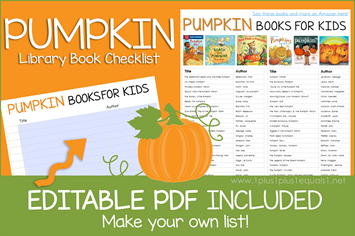 Pumpkin Books Editable Book Checklist