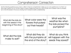 Pumpkin Kindergarten Literature Unit Printables (29)