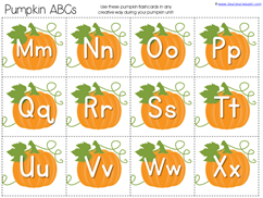 Pumpkin Kindergarten Literature Unit Printables (3)