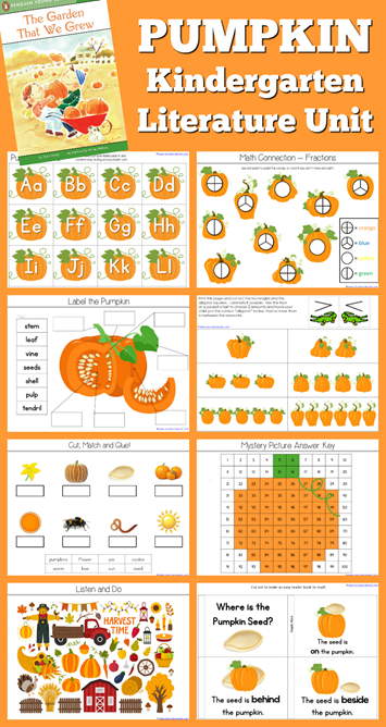 Pumpkin Theme Kindergarten Literature Unit