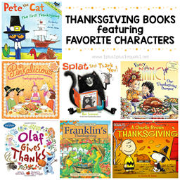 Thanksgiving Books Featuring Characters