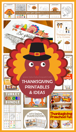 Thanksgiving Printables and Ideas for Kids
