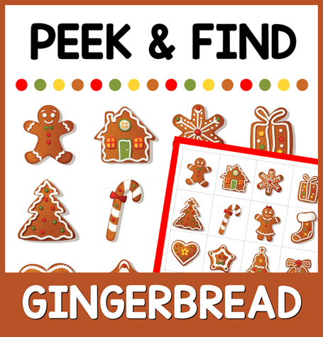 Gingerbread Peek and Find