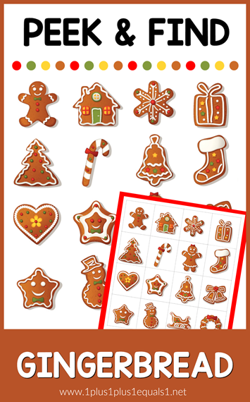 Peek and Find Gingerbread