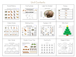 Wombat Divine Kindergarten Literature Unit (3)