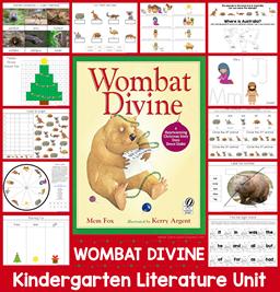 Wombat Divine Kindergarten literature Unit