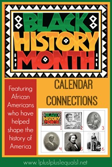 Black History Calendar Connections Printables