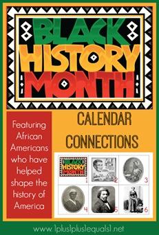 Black History Calendar Connections Printables