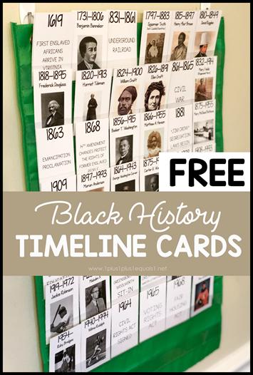 Black History Timeline Printables