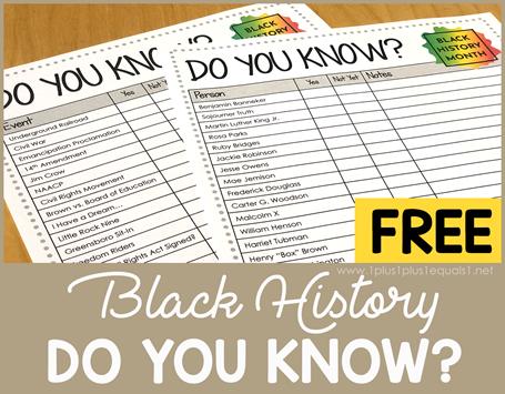 Free Black History Do You Know