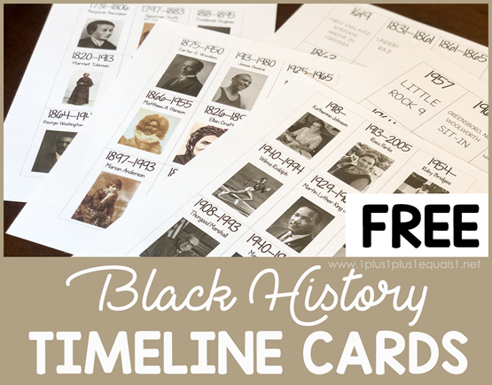 Free Black History Timeline Printables