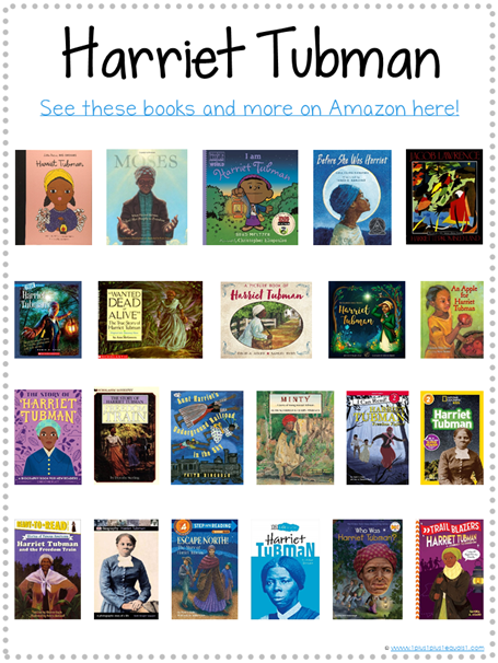 Harriet Tubman Books for Kids Library Checklist