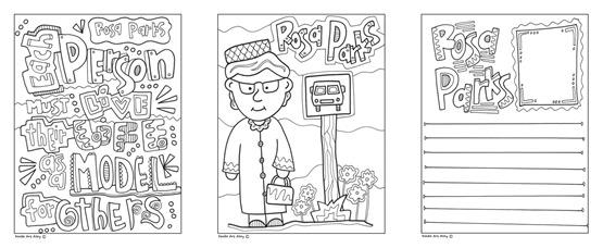 Rosa Parks Coloring