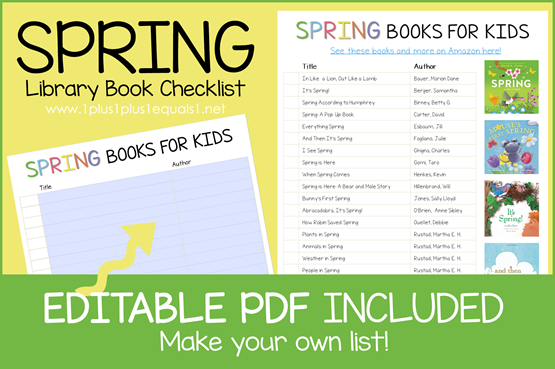 Spring Book Editable Book Checklist[1]