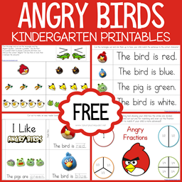 Angry Birds Kindergarten Printables
