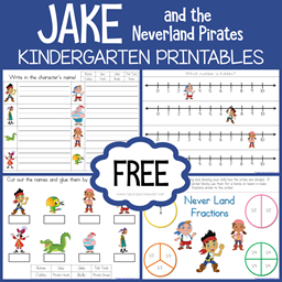 Jake and the Neverland Pirates Kindergarten Printables