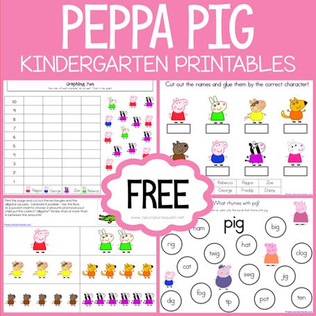 Peppe Pig Kindergarten Printables