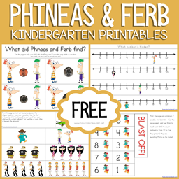 Phineas and Ferb Kindergarten Printables