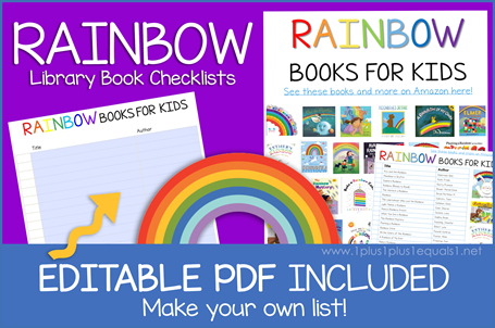 Rainbow Books Editable Book Checklist