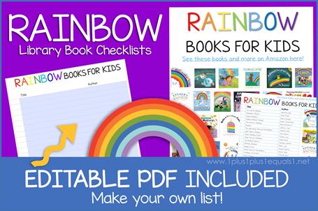 Rainbow Books Editable Book Checklist