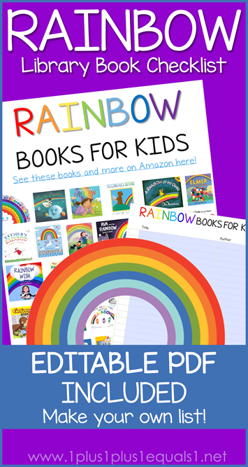 Rainbow Books Editable Library Checklist