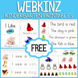 Webkinz Kindergarten Printables