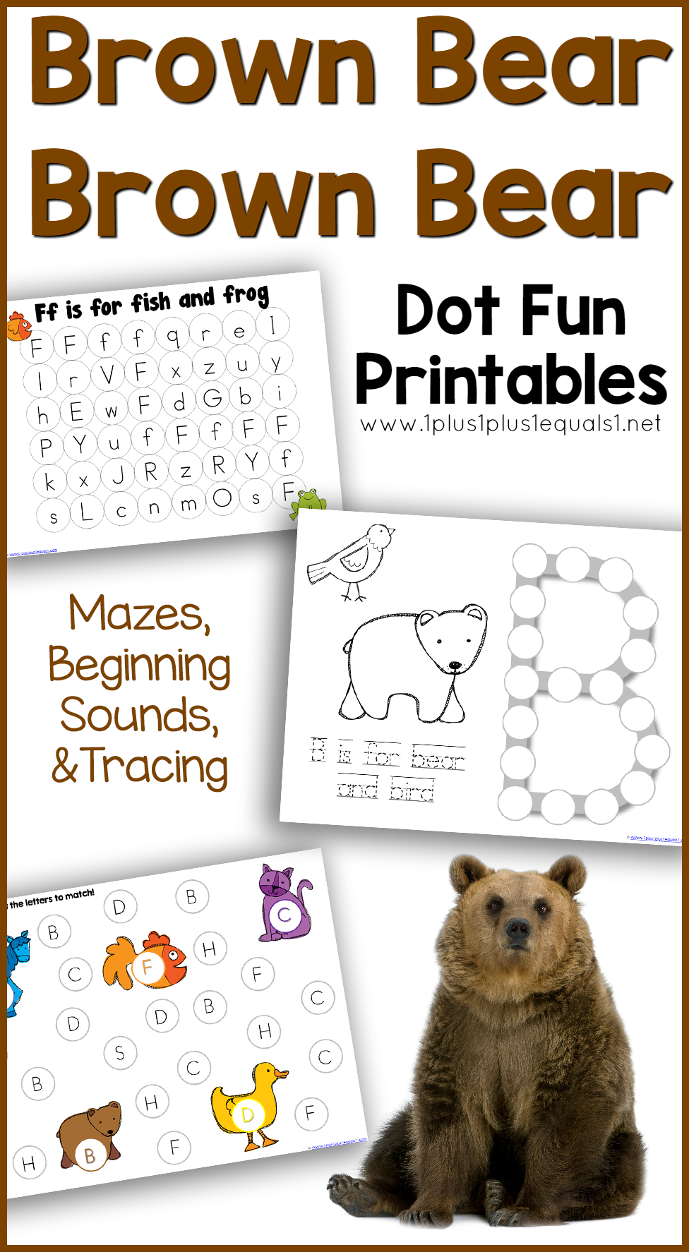 Brown Bear Dot Fun Printables