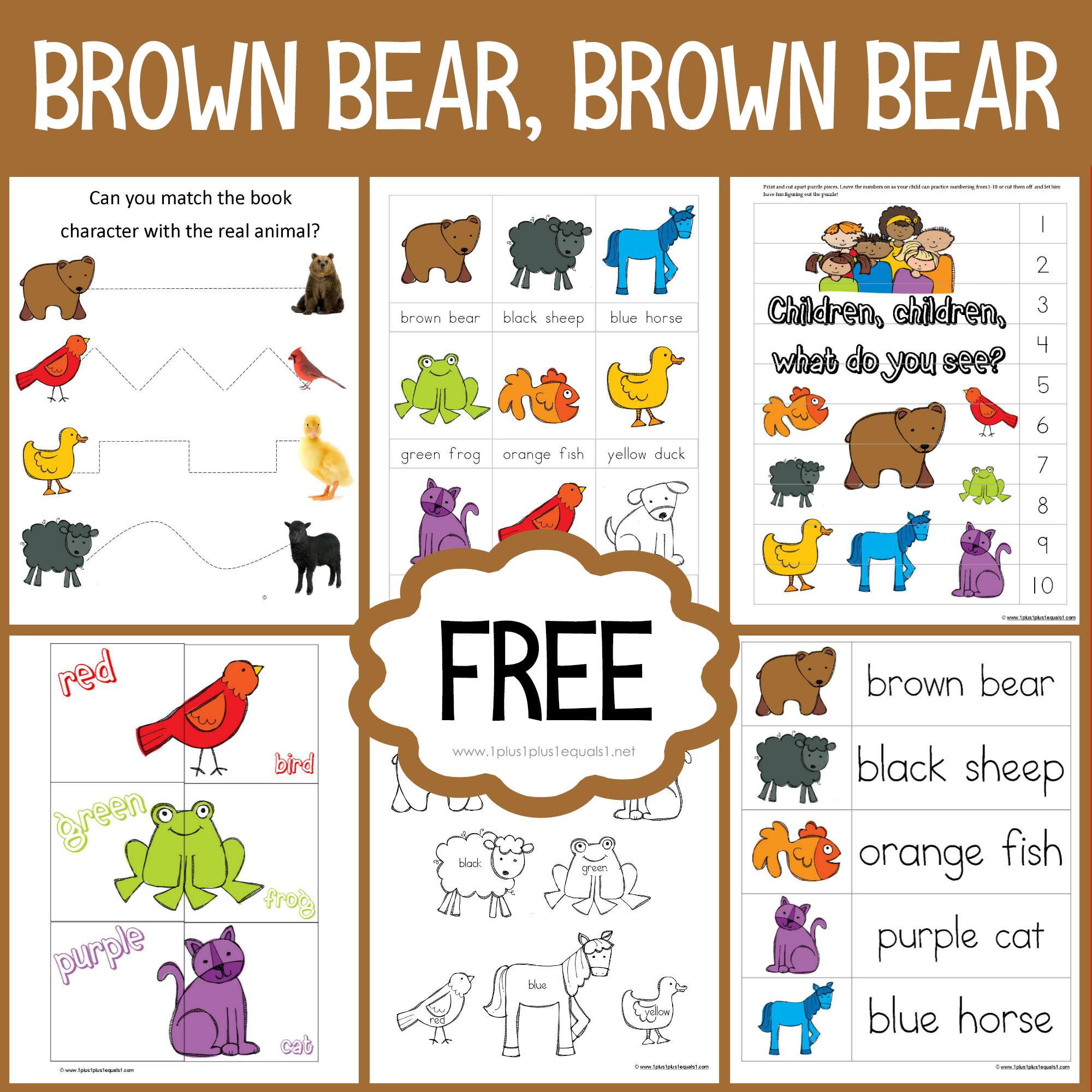 Brown Bear Dot Fun Printables 1 1 1 1